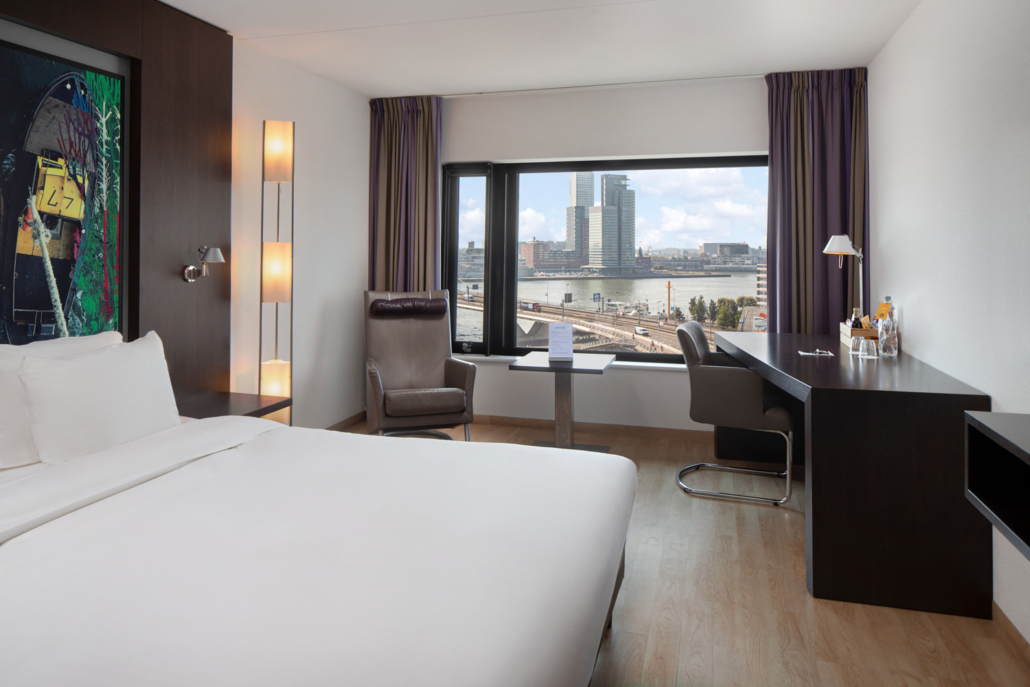Inntel Hotels Rotterdam Centre Panorama Top kamer Room Overview